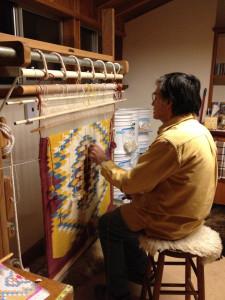 John at the loom