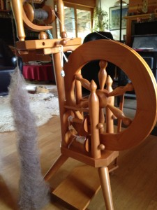 New Zealand made Nagy spinning wheel, 1972 vintage