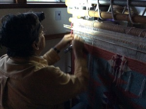 weaving by headlamp